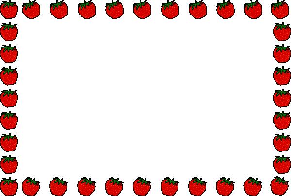 600x405 Strawberry Border Lezece Clip Art