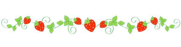604x160 Strawberry Clipart Border Design