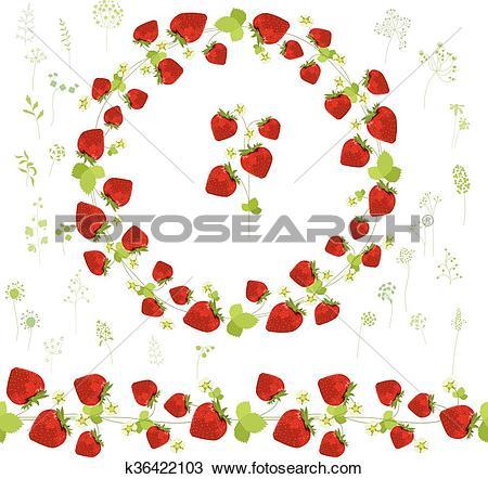 450x442 Strawberry Clipart Garland