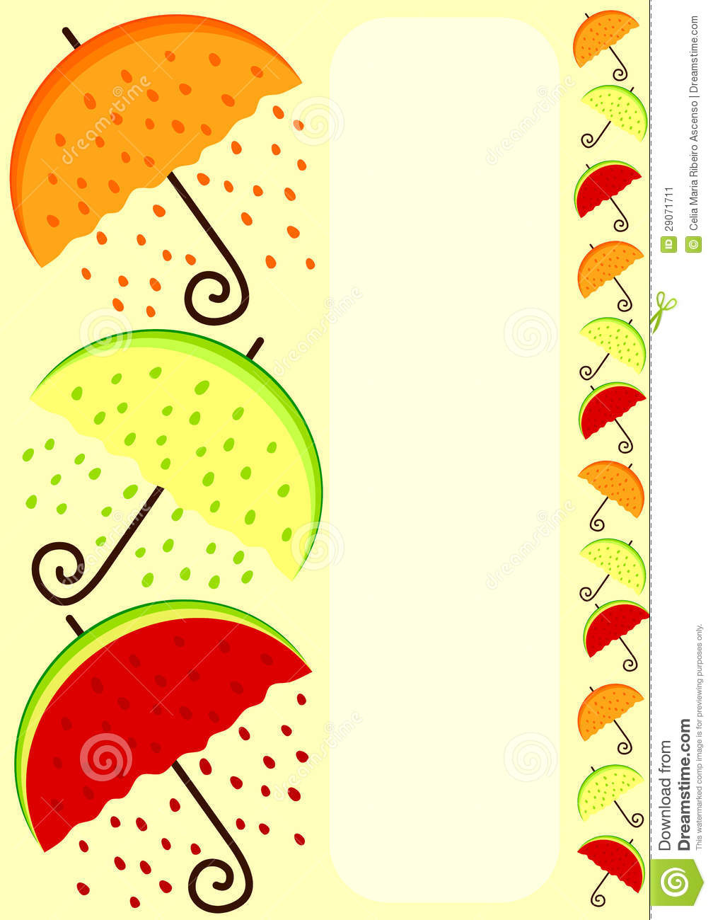 1008x1300 Watermelon Border Clip Art