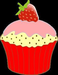 230x297 Strawberry Cupcake Clip Art