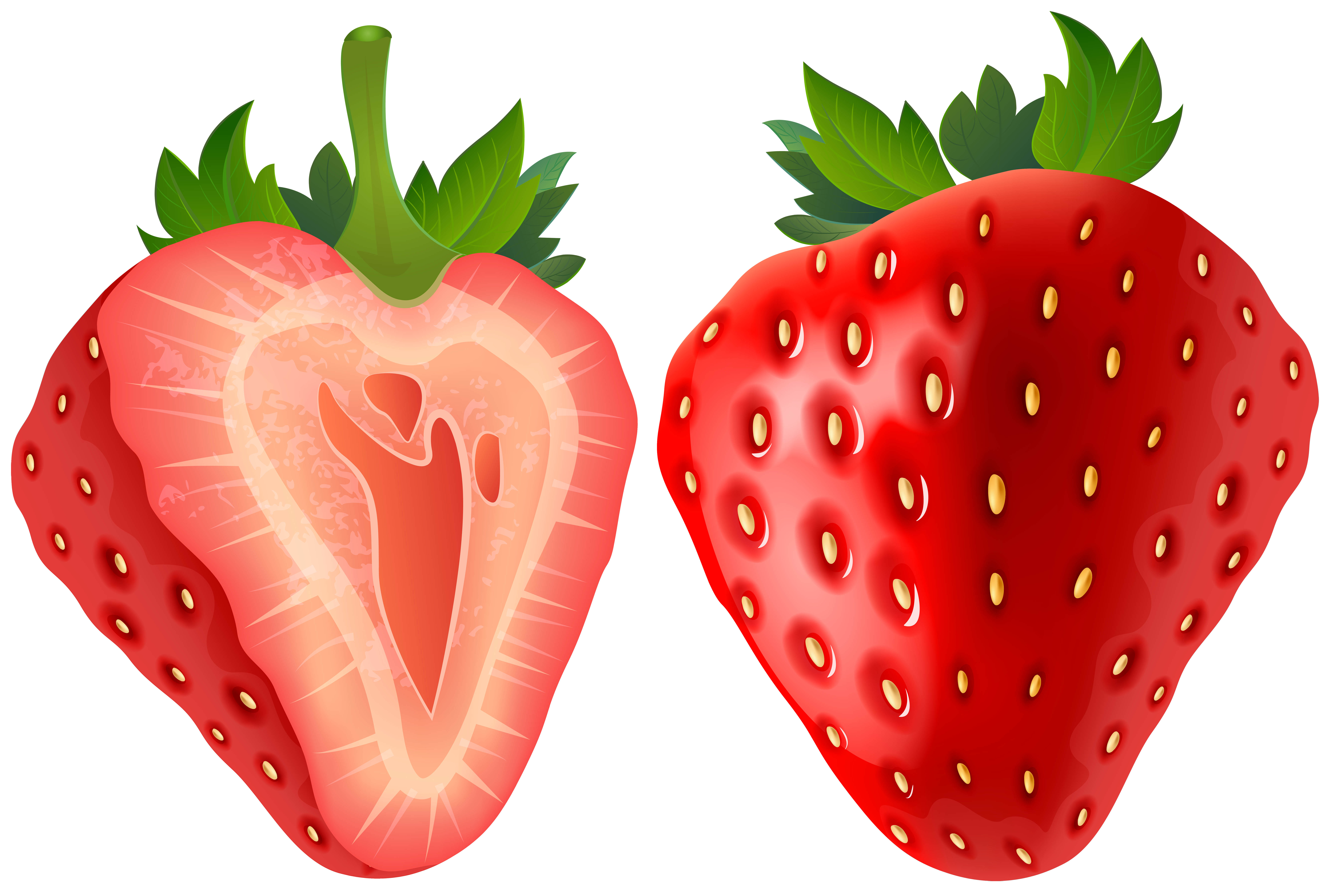 8000x5372 Strawberry Clipart Transparent