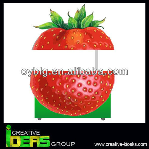 500x500 Attractive Steel Outdoor China Mobile Food Kioskstrawberry Design