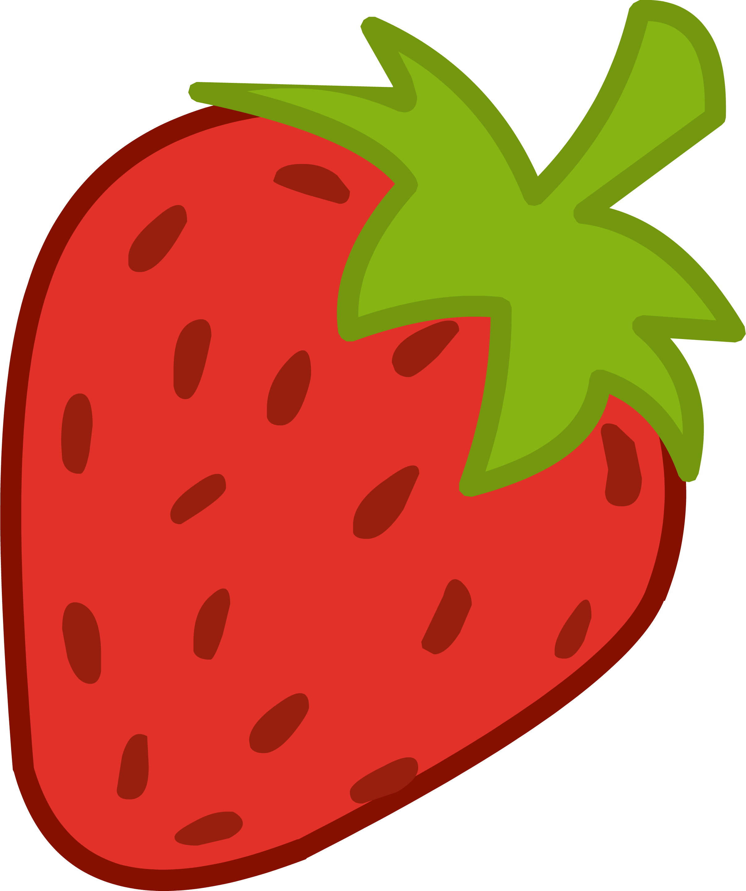 2412x2880 Free Strawberry Clipart