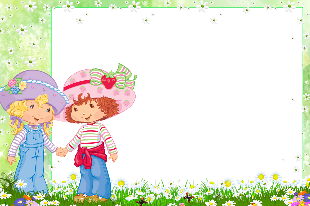 1280x853 Transparent Png Frame With Strawberry Shortcake And Friend