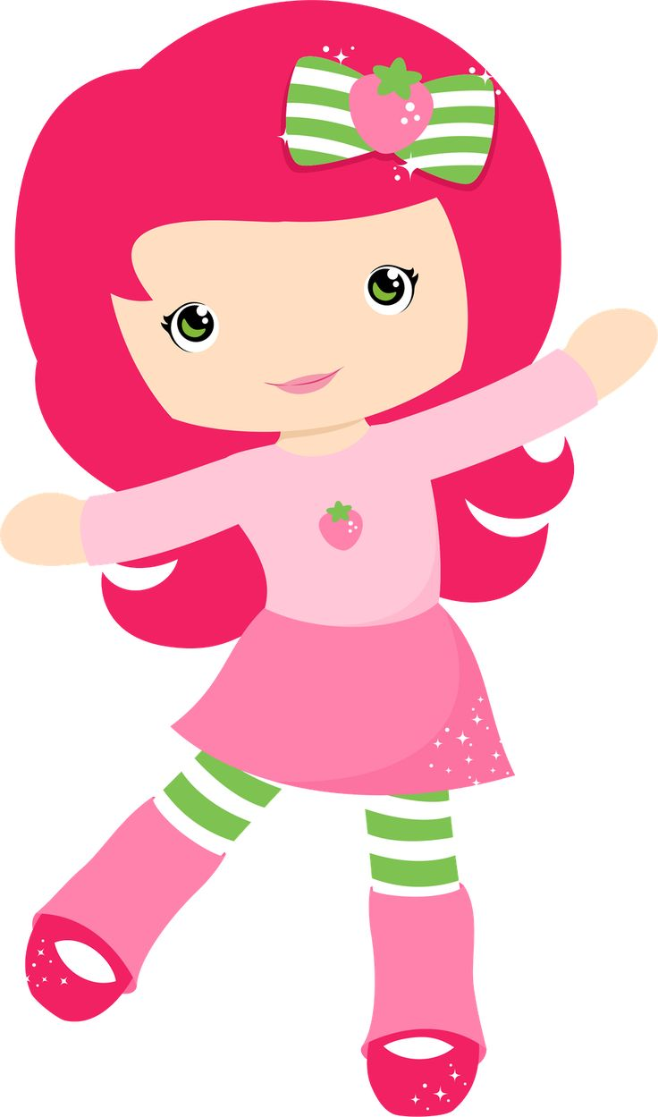 736x1249 Vector Strawberry Shortcake Clipart