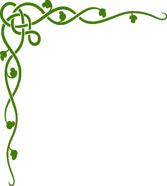 534x596 Green Celtic Vine Clip Art