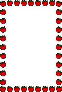 201x300 Strawberry Border Clip Art