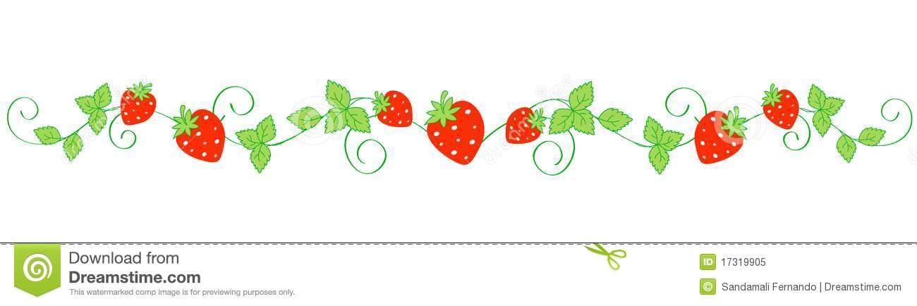1300x434 Strawberry Clipart Garland