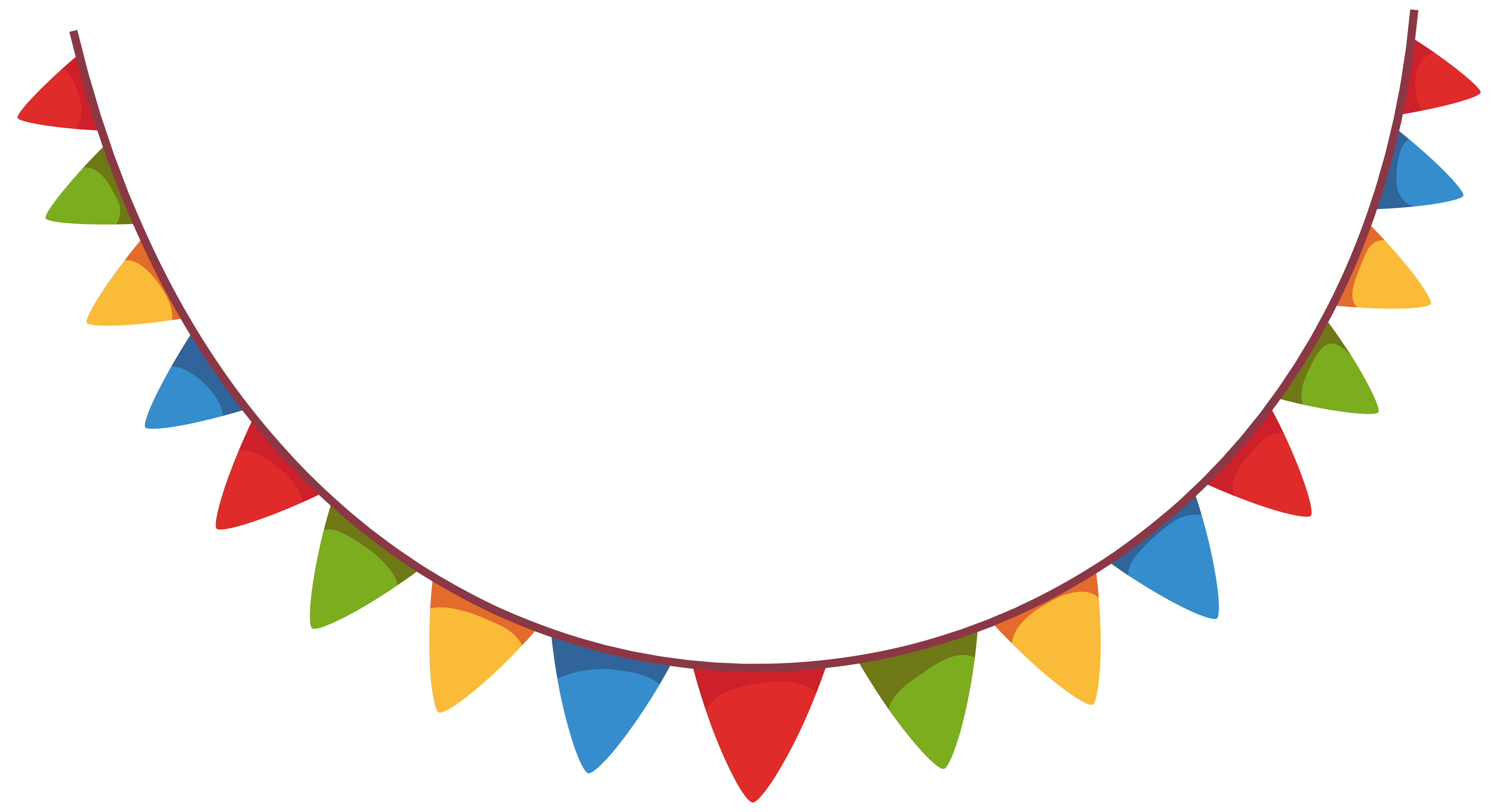 6323x3428 Ribbon Clipart Party Streamer