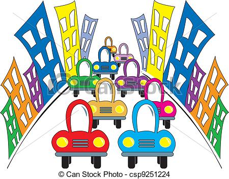 450x352 Street Clipart Busy City