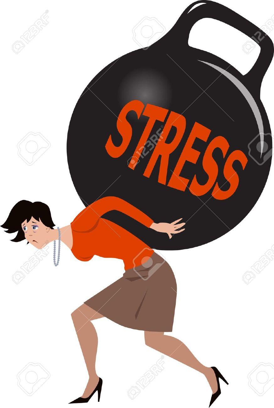 873x1300 Girl Clipart Stress