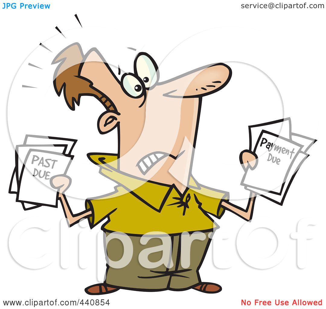 1080x1024 Royalty Free (Rf) Clip Art Illustration Of A Cartoon Stressed Man
