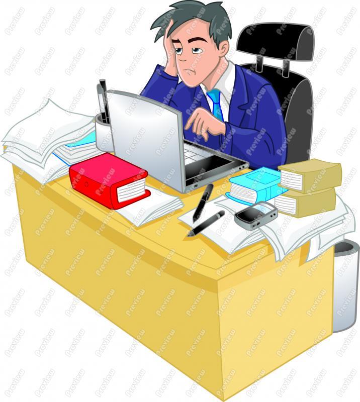 716x800 Stressed Businessman Clip Art