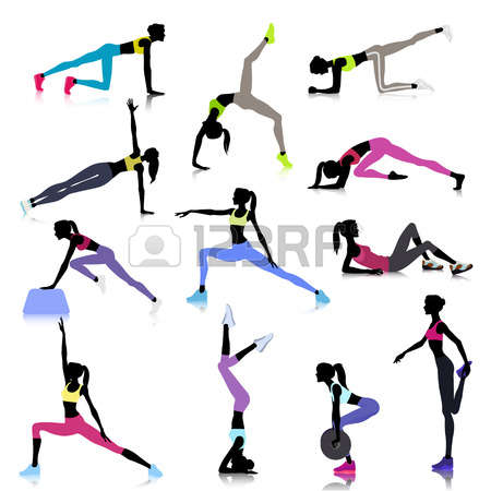 450x450 Stretching Clipart