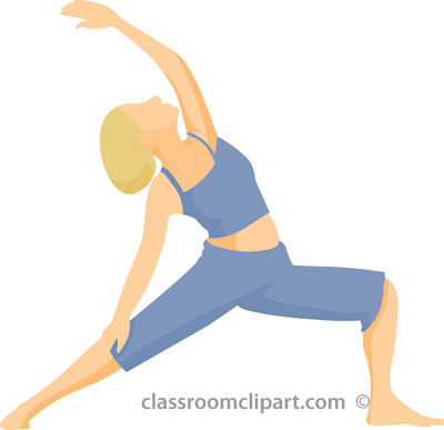 400x387 Yoga Stretching Clipart Image