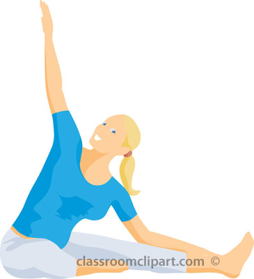 365x400 Back Stretching Exercises Clip Art Cliparts