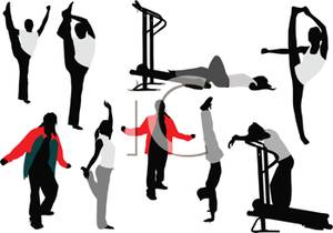 300x210 Group Stretching Clip Art Cliparts