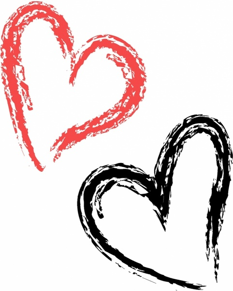 482x600 Heart Clipart Brush Stroke
