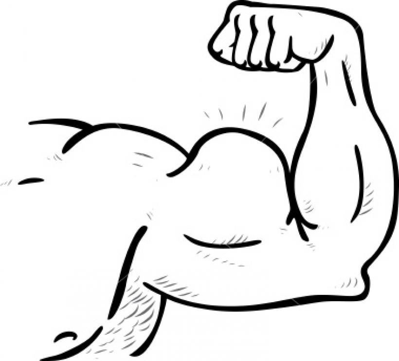820x742 Muscular Arm Clipart Muscular Arm Clipart Arm Muscle Black