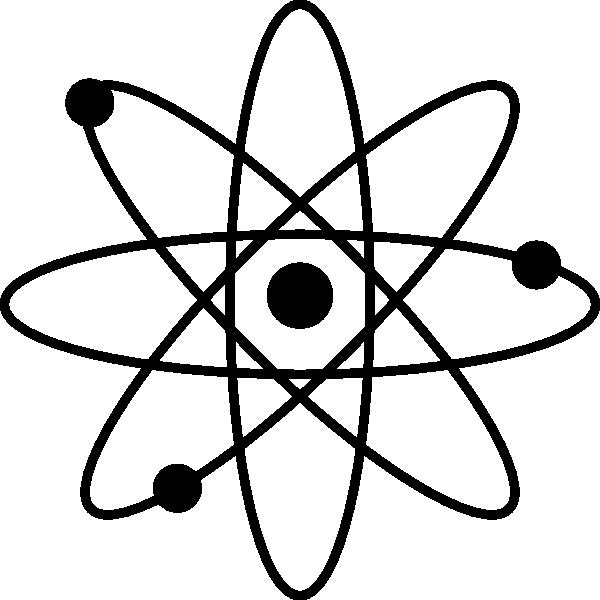 600x600 Black Atom Clip Art