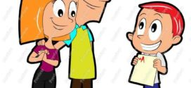 272x125 Boy Student With Report Card Clip Art