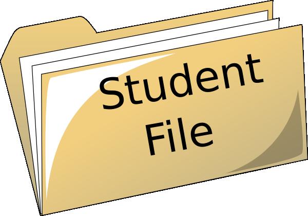 600x420 Student File Folder Clipart