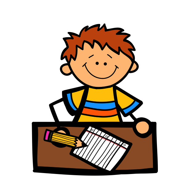 574x604 Student Working Clipart