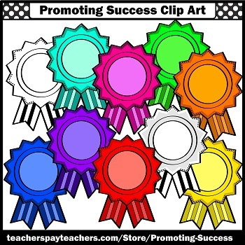 350x350 Badges Clip Art Ribbon Awards Clipart Student Recognition SPS