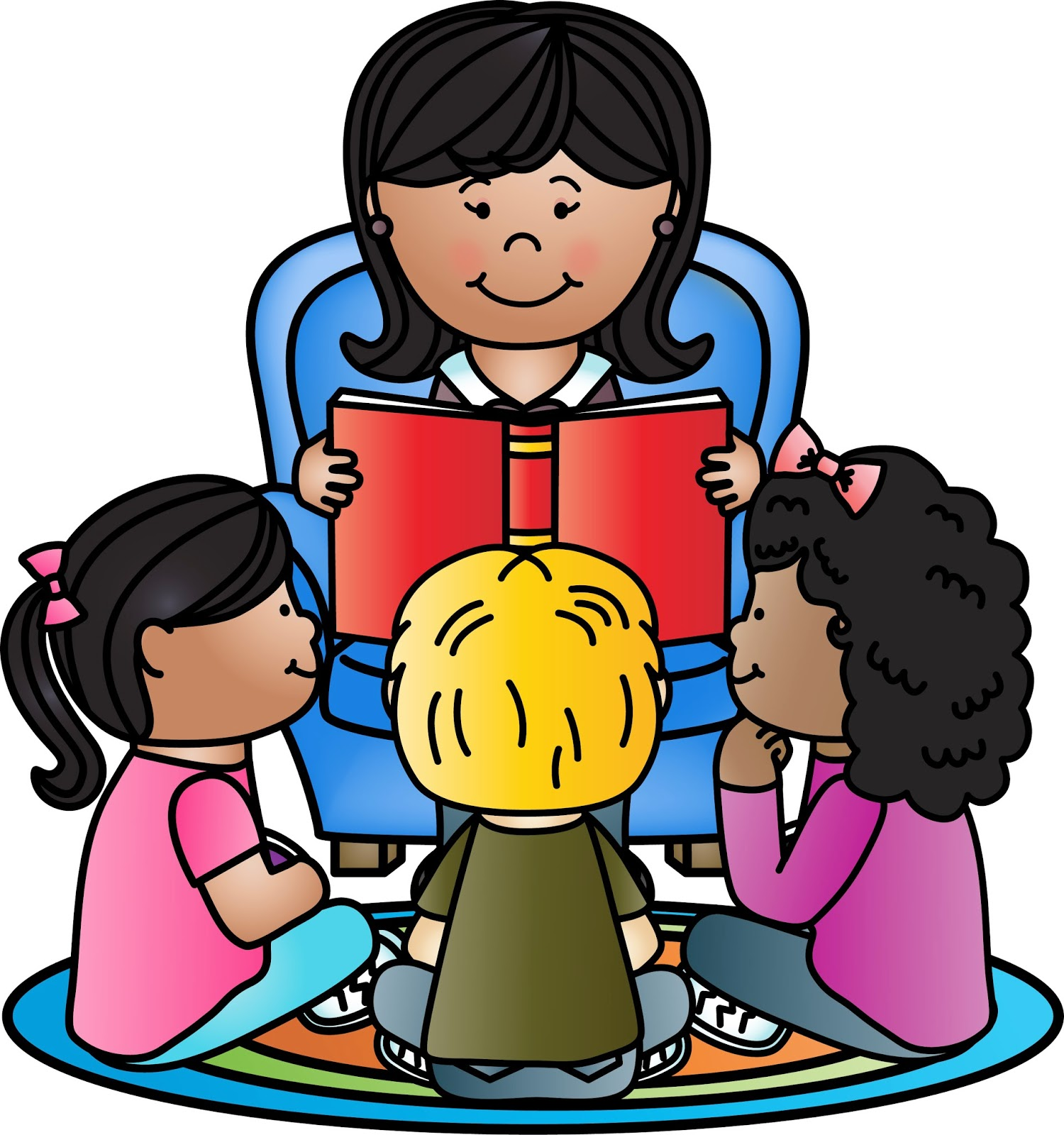1500x1600 Listening Story Teacher Student Clipart