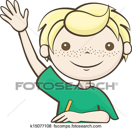 450x442 Clipart Of Student Raised His Hand K15076962