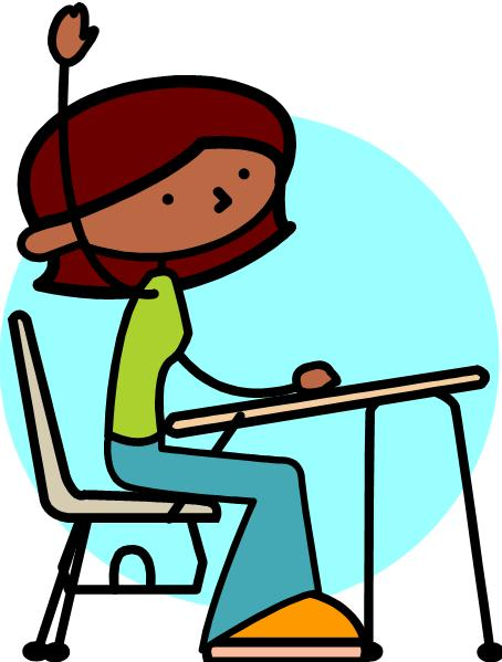 454x599 Girls Stick Student Raising Hand Clipart