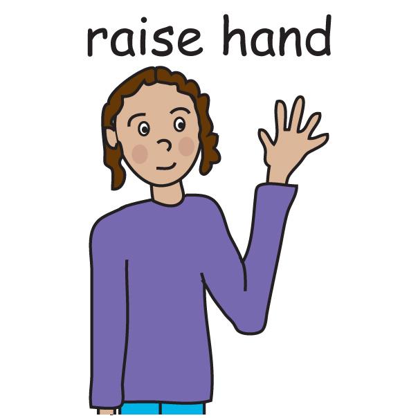 604x604 Raise Hand Clipart
