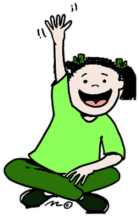 199x320 Student Raising Hand Clipart