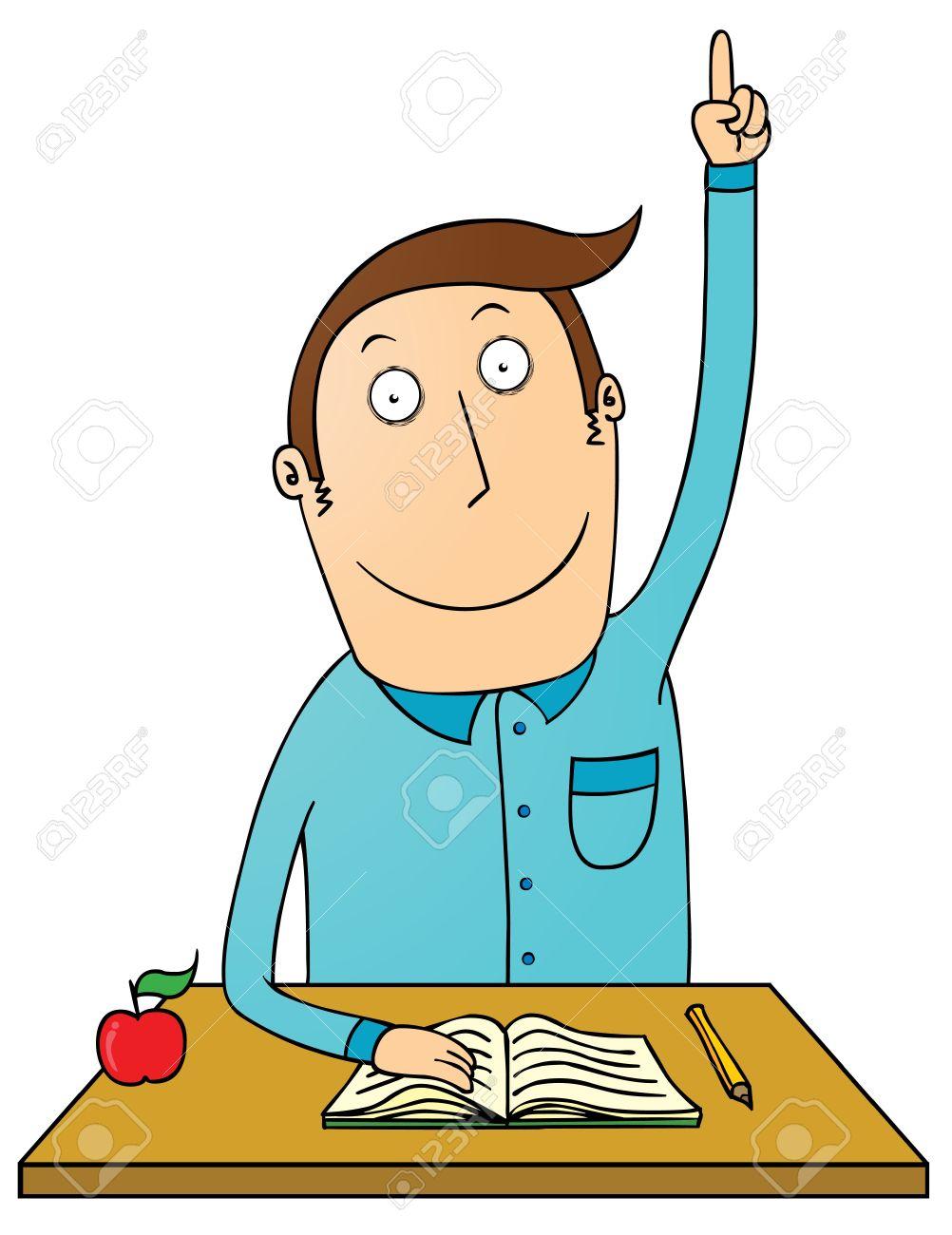 1002x1300 Student Raising Hand Clipart