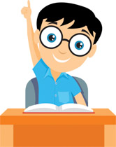166x210 Clipart Teenager Raising Hand In Class