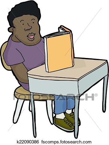 353x470 Clip Art Of Student Reading