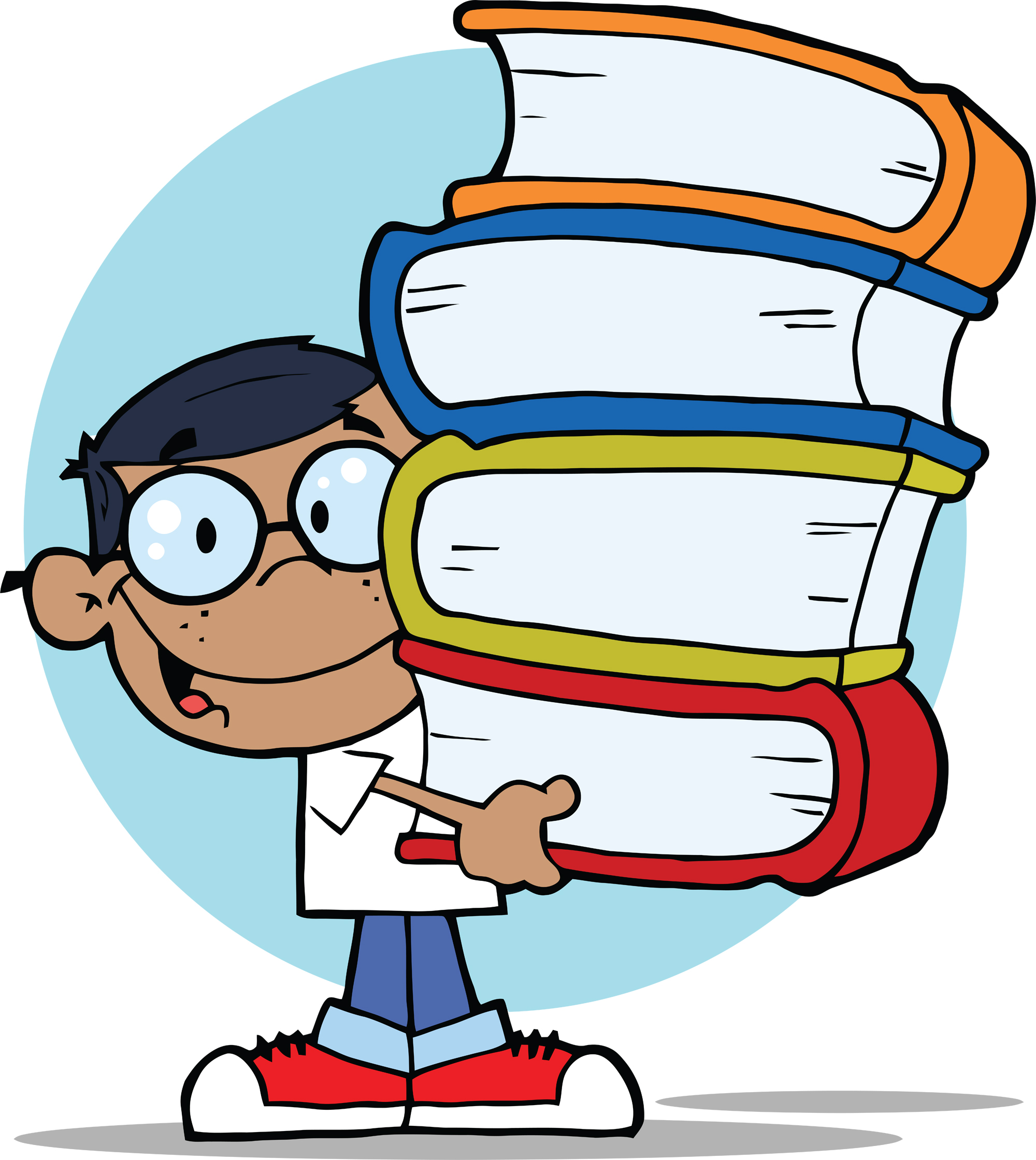 2000x2240 Student With Book Clipart