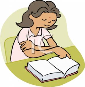295x300 Clip Art Student Reading Quietly Cliparts