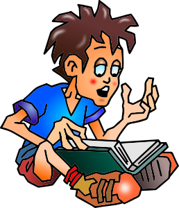 258x300 Education Student Reading Clip Art