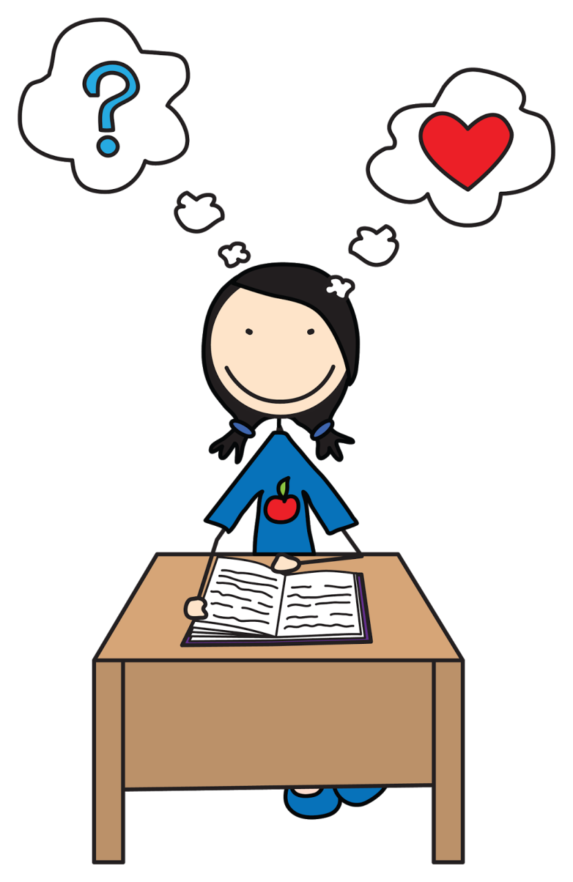 830x1278 Student Reading Clipart