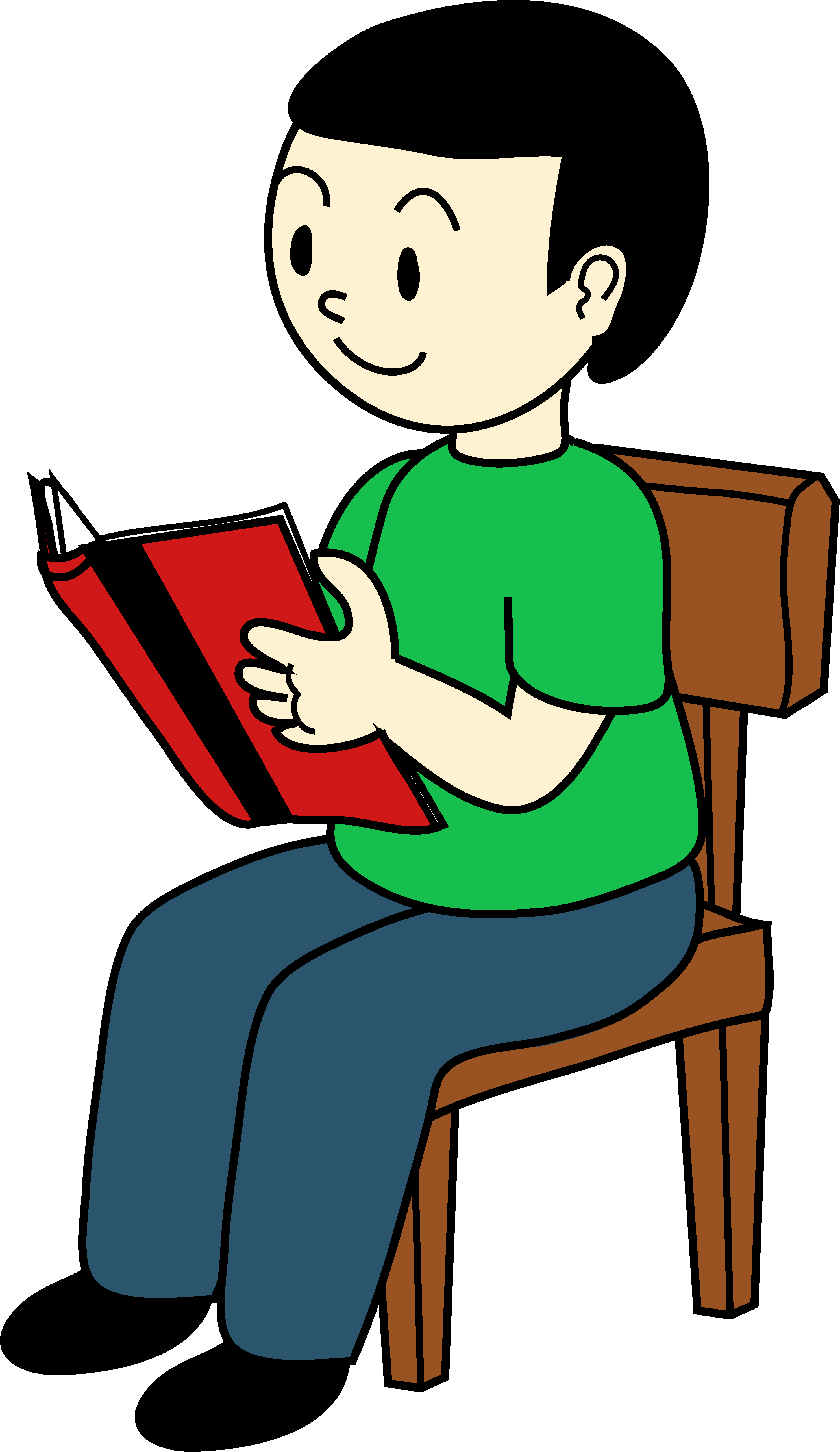 2974x5139 Student Reading Clipart 101 Clip Art