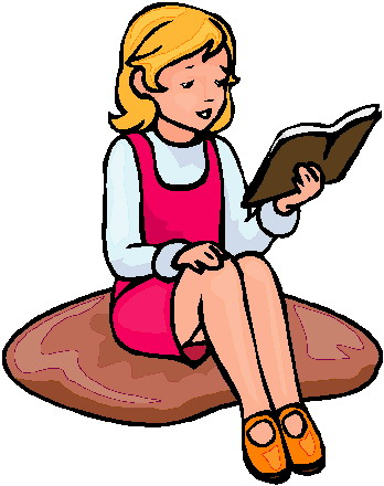 348x440 Student Reading Clipart