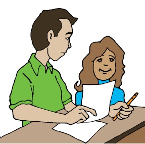 287x285 Clipart teacher reading with student clipart image
