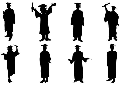 500x350 Graduation clipart silhouette