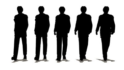 400x226 Silhouette People Walking Clipart