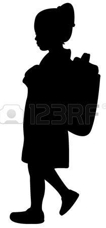 210x450 Back To School Kid Silhouette Royalty Free Cliparts, Vectors,