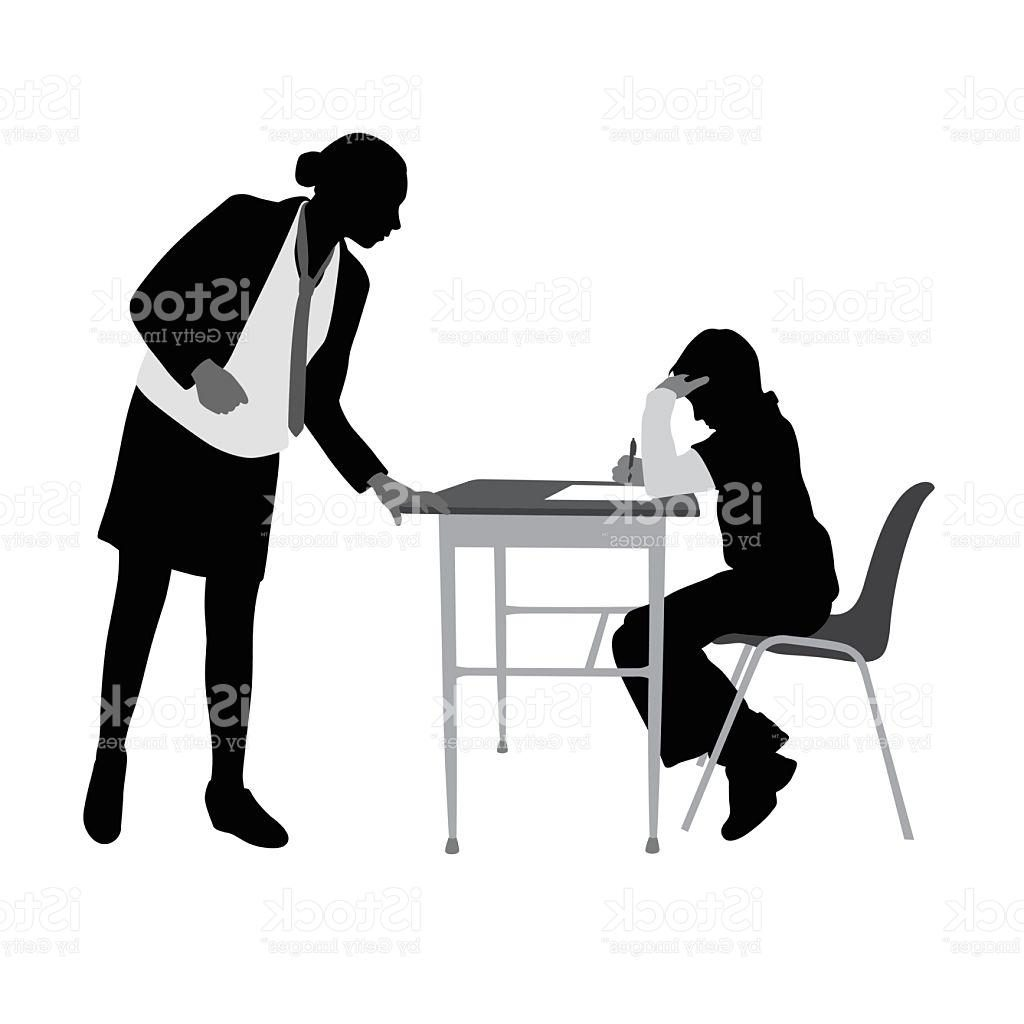 1024x1024 Top 10 Teacher Helping Student Work Silhouette Vector Library