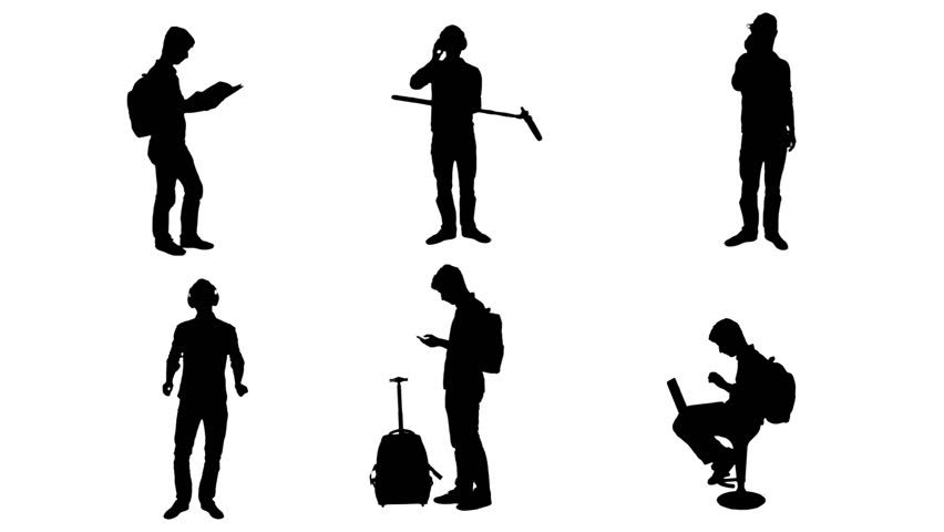 852x480 Business Students Silhouettes Differents Full Hd Student