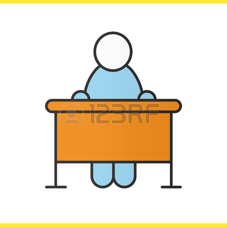 450x450 Pupil Glyph Icon. Silhouette Symbol. School Student Sitting